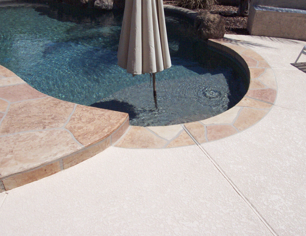 Acrylic Lace Pool Deck with BU-Flagstone Border-5
