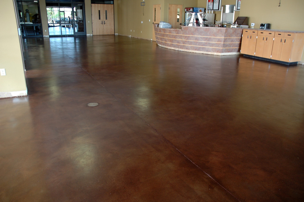 Staining interior concrete floors home flooring ideas for Interior concrete floors