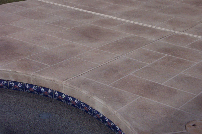 Tile pool deck coating and repair az creative surfaces for Pool design pattern
