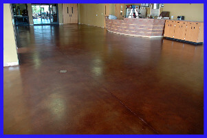 Dark Concrete Stained Floor