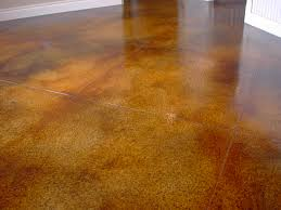 concrete-stained floor