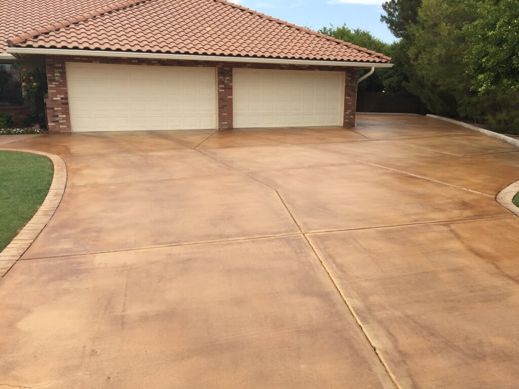 Acid Stained Driveway