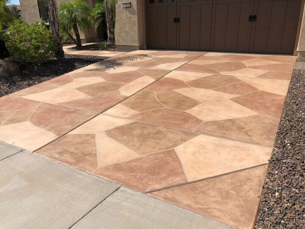 Flagstone Driveway Coatings By Az Creative Surfaces